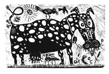 """Cow Dog"" - Mark Bulwinlkle"