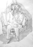 """Blue"" - Wash Drawing Nan Williamson Ontario, Canada"